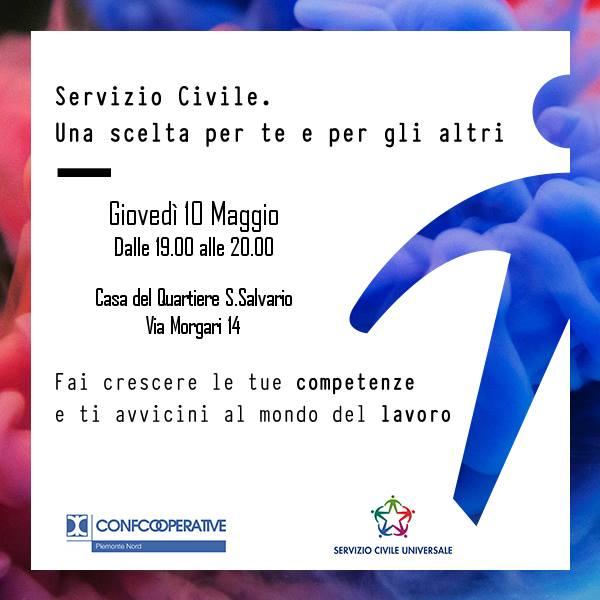 Aperitivo informativo sul servizio civile di Confcooperative Piemonte Nord