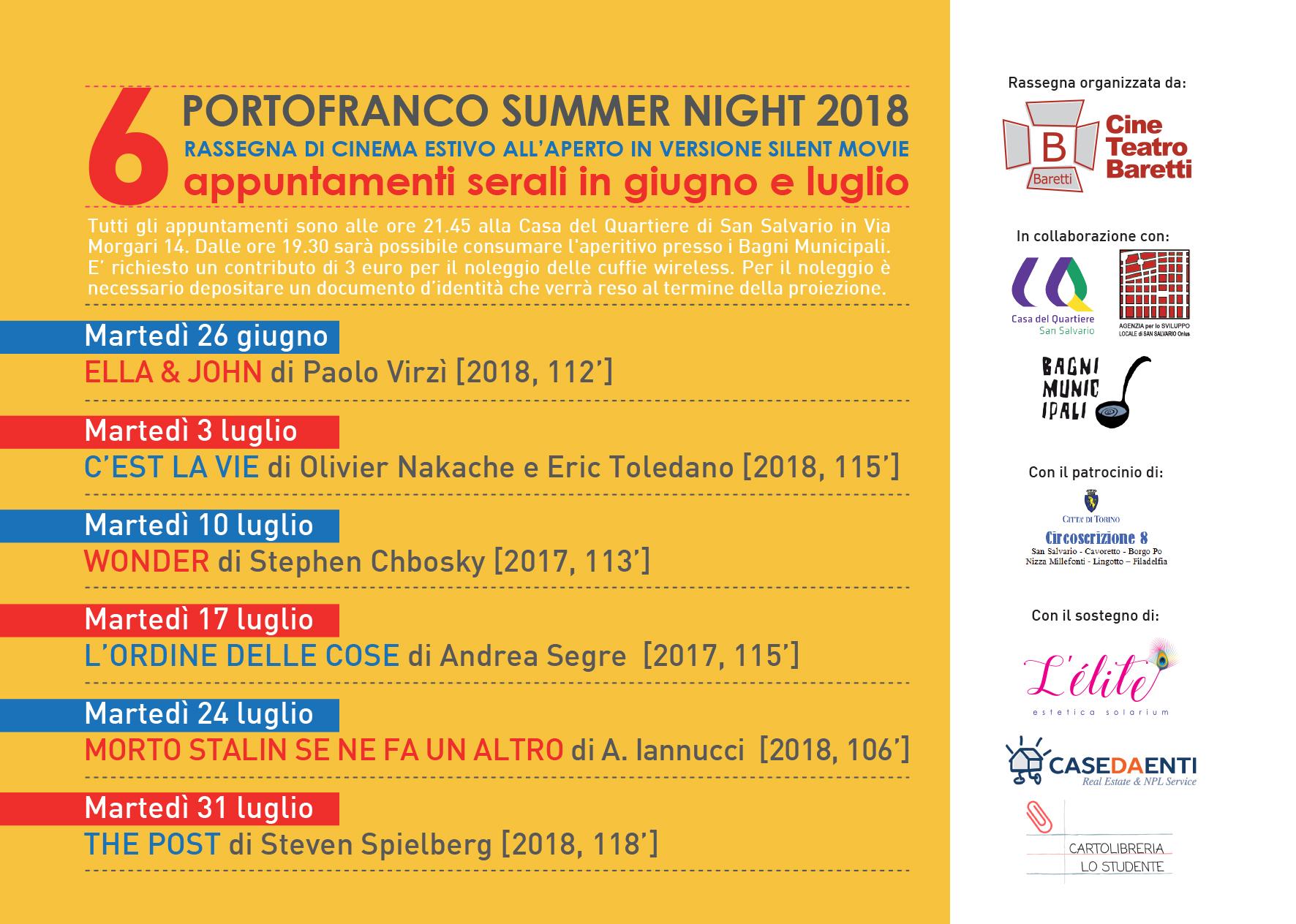 PORTOFRANCO SUMMER NIGHT 2018