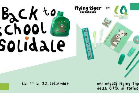 Back to School solidale con Flying Tiger Copenhagen per sostenere le Borse di Studio della Casa del Quartiere!
