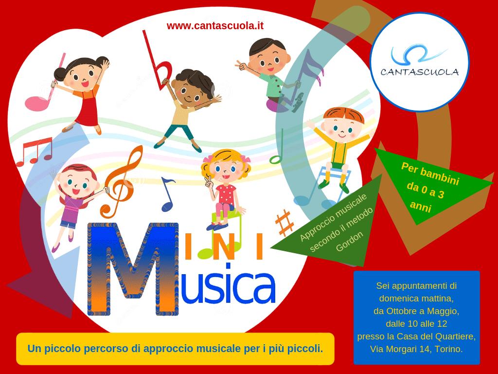 Minimusica (0-3 anni) con Cantascuola