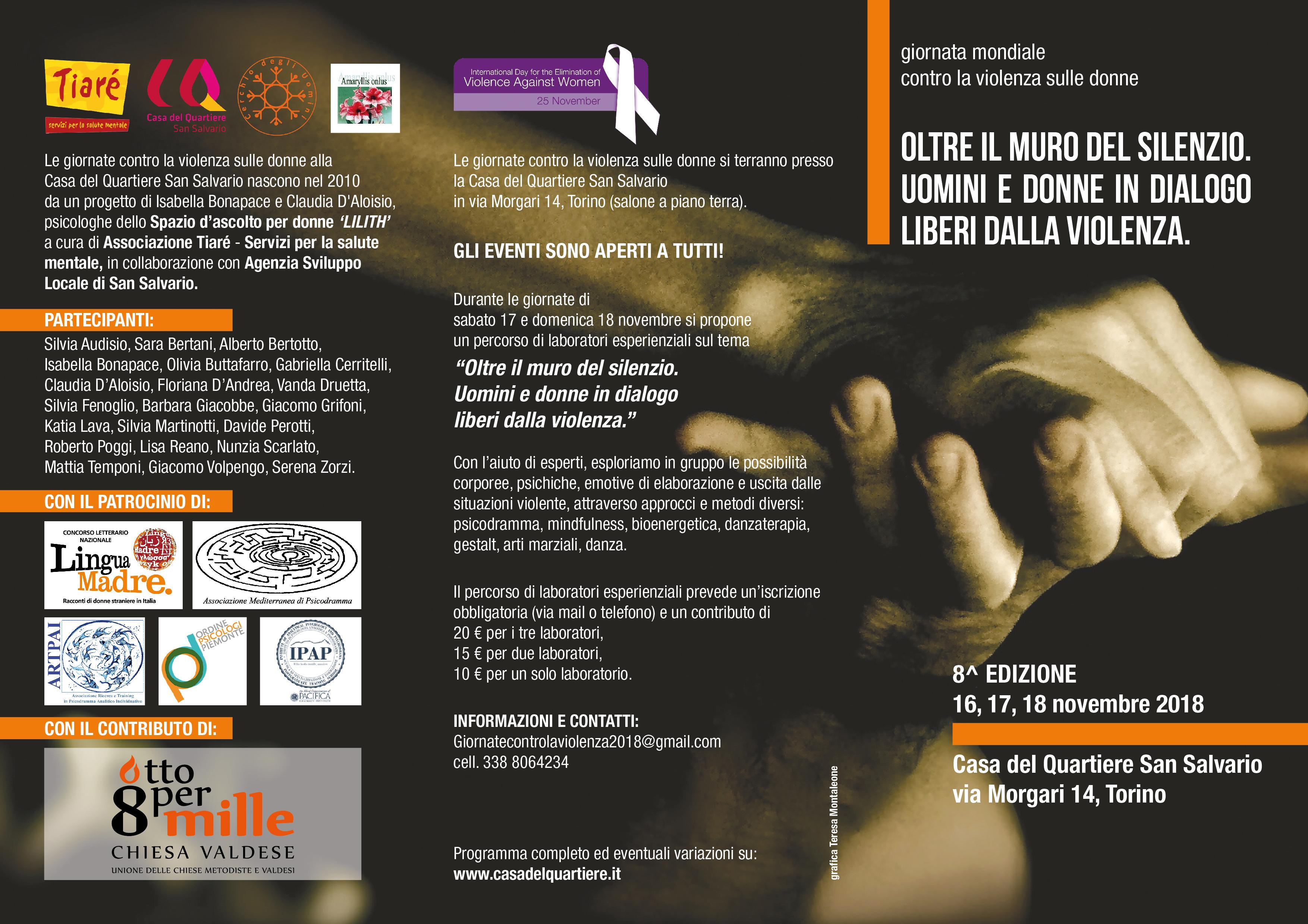 Giornata Mondiale contro la Violenza sulle Donne 2018