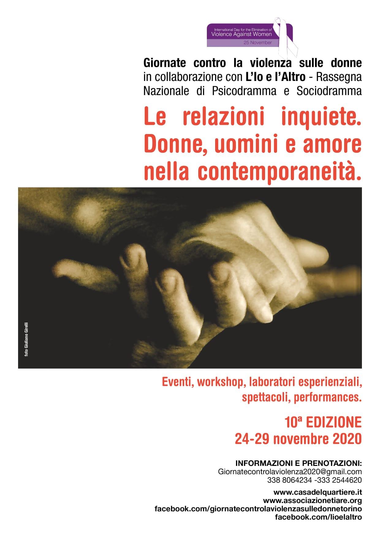 Giornate contro la violenza sulle donne 2020: Le relazioni inquiete
